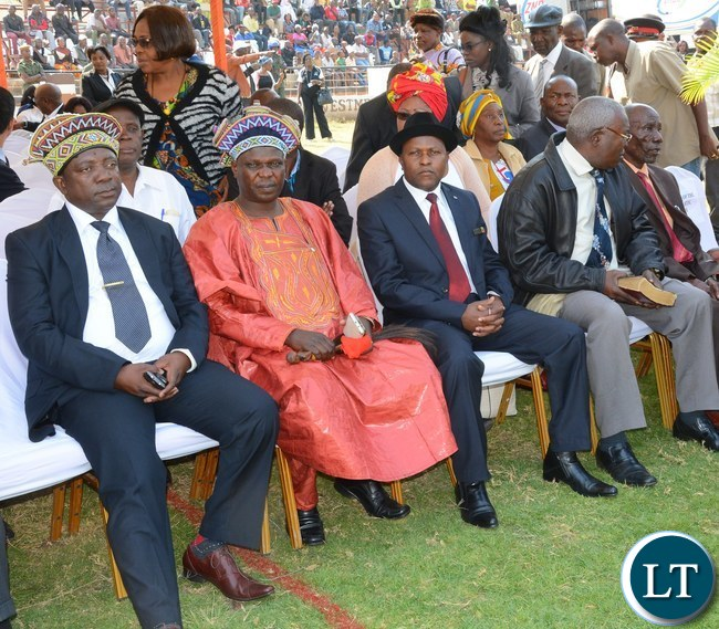Part of the Traditional Leaders during the nation pray day on peaceful elections at show ground in Lusaka yesterday Picture by Josephine Nsululu/Zanis.