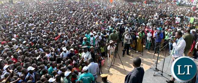 President Edgar Lungu at PF Rally at Mporokoso Boma in Nothern Province on Saturday - Picture by Eddie Mwanaleza/Statehouse.