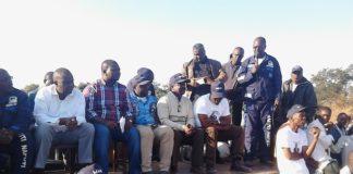Campaign manager Dr Solomon Musonda Addressing a rally in Chitambo.