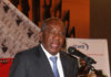 Minister of Finance Alexander Chikwanda addressing the gathering.