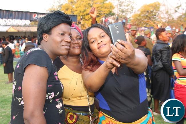 Lusaka residents converge to Lusaka Showgrounds led by President Edgar Lungu