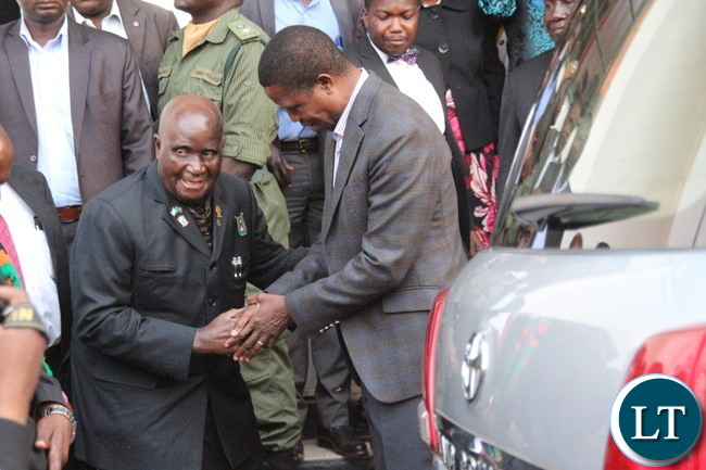 President Edgar Lungu with KK