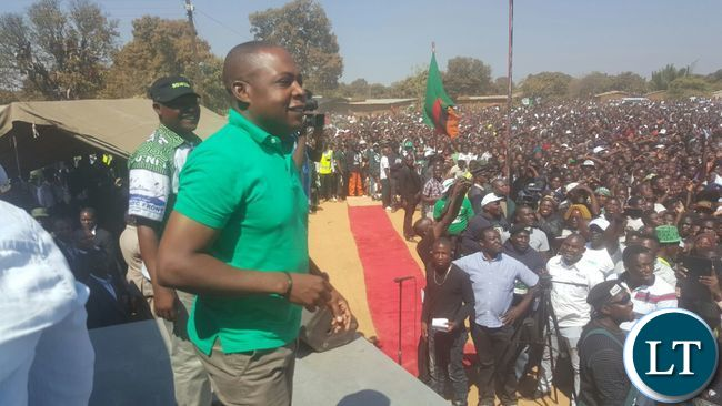 Kalusha Bwalya at the PF rally in Kabwe