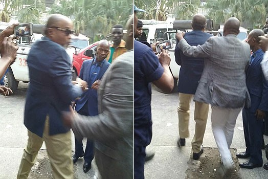 Koffi Olomide escorted from his home by plice after his arrested