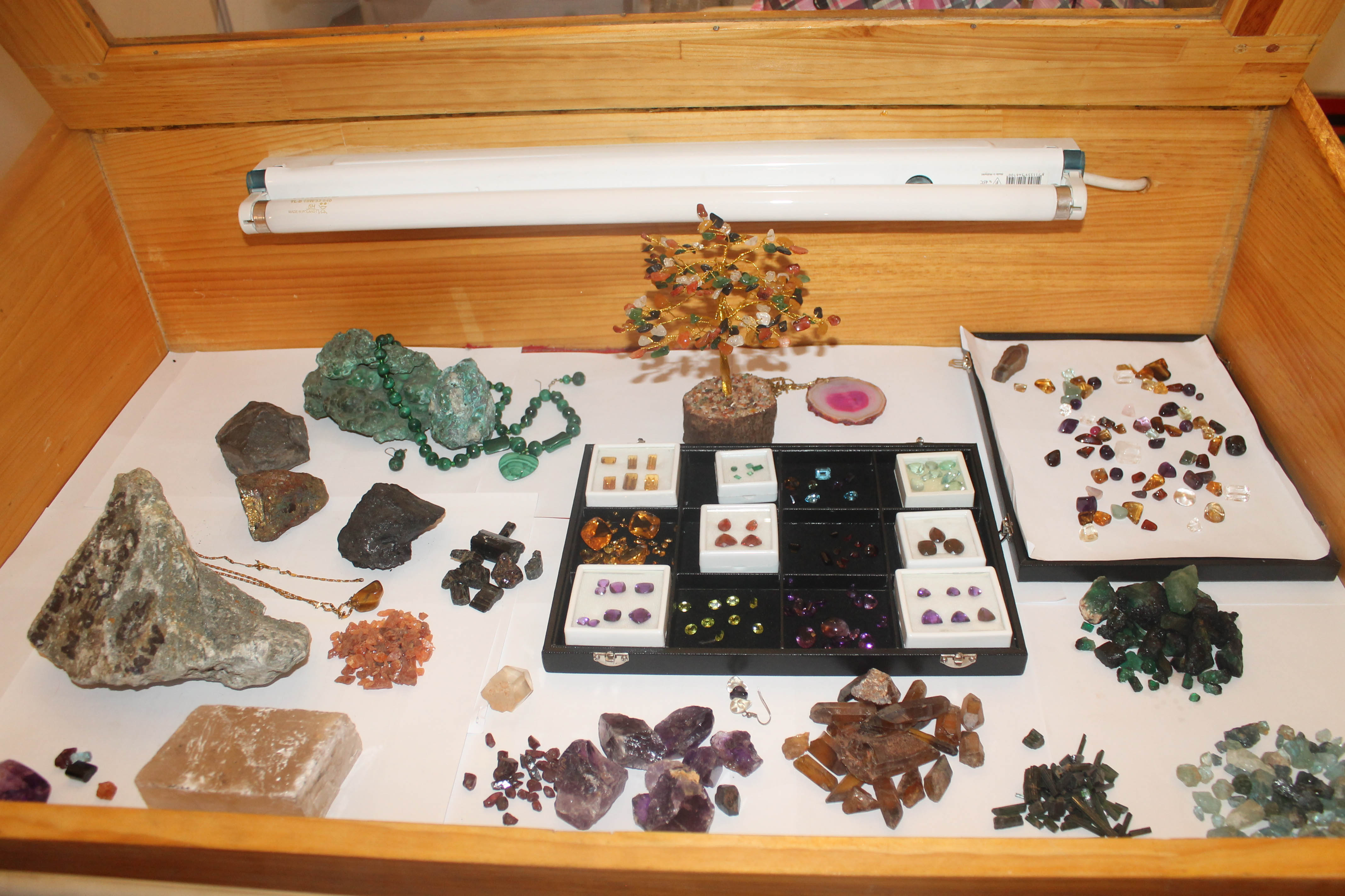 Precious stones on displace at the Mines and Mineral Development stand at ZIMEC in Lusaka on 23 June 2 Picture By Hope Mkunte