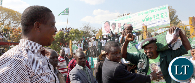 President Lungu arrive at PF Rally at Mporokoso Boma in Nothern Province on Saturday - Picture by Eddie Mwanaleza/Statehouse.