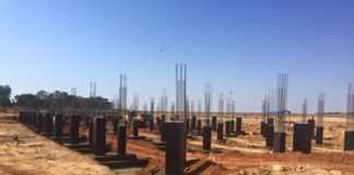 The new KKIA VVIP Presidential terminal building foundation works underway