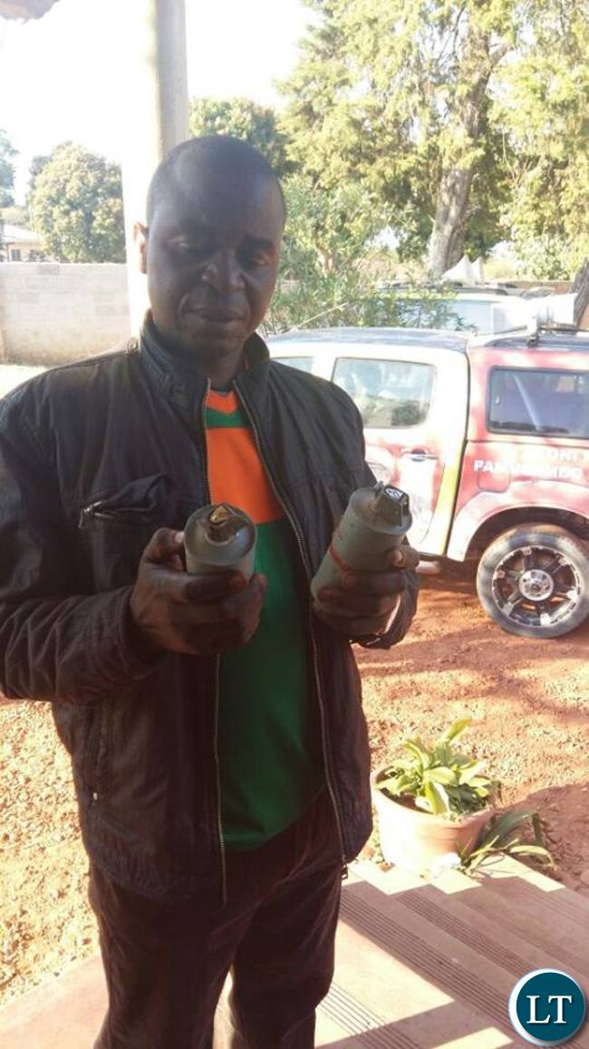 The teargas cannisters that was fired by police