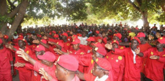 UPND Supporters at meetings in Kalabo