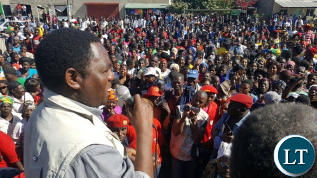 Crowds at UPND rally