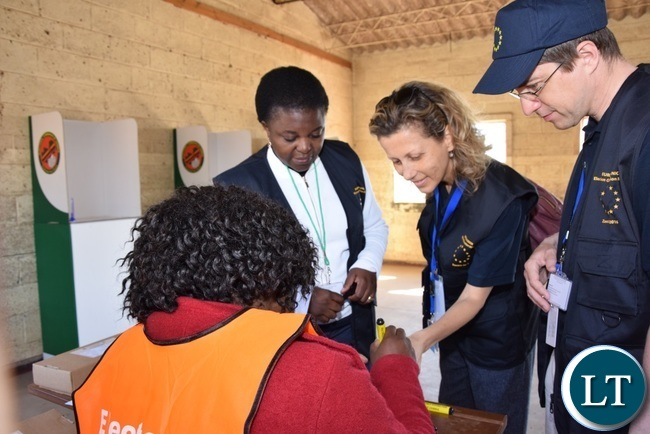 EU EOM in Zambia undertaking elections observation this morning_1