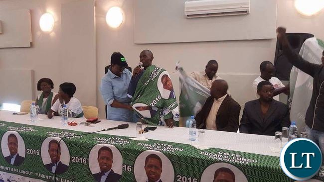 Jean Kapata welcomes Mr Lifwekelo back to the PF
