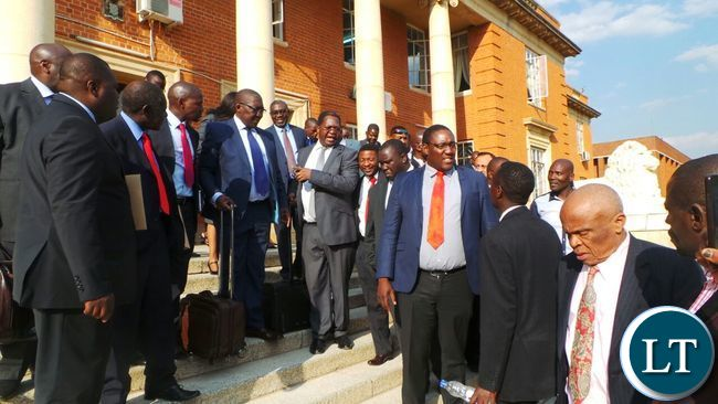 Lawyers in the election petition at the Supreme Court this afteernoon