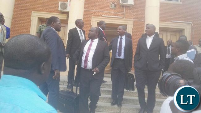 Lawyers working on the presidential petition leaving the Supreme Court