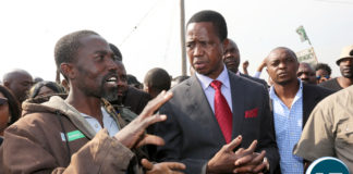 President Edgar Lungu tour Bauleni Market Burned