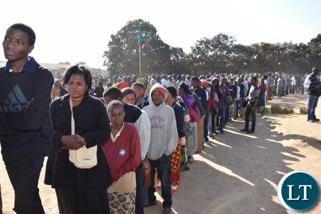 Zambians turn out to vote