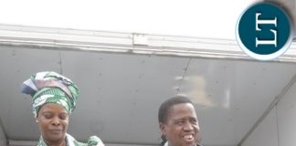 PRESIDENT Edgar Lungu and the First Lady,Esther Lungu dancing at Mkushi rally