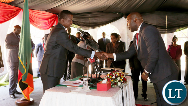Copperbelt Province Minister Bowman Lusambo