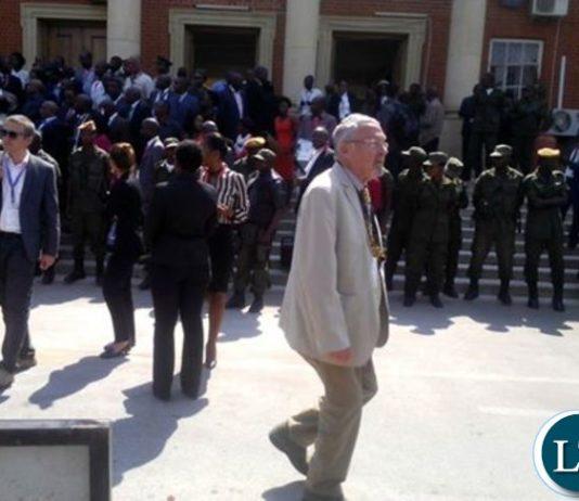 Dr Scott leaving court today