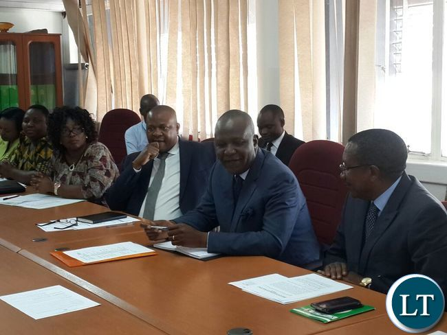 Finance-Minister-Felix-Mutati-meeting-with-senior-management-staff-at-the-Ministry-of-Finance