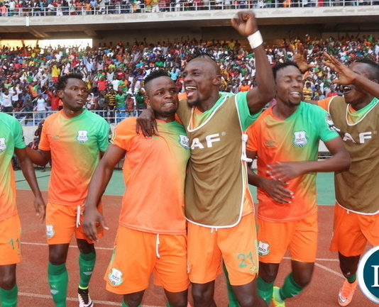 ZESCO Players celebrating the first Goal