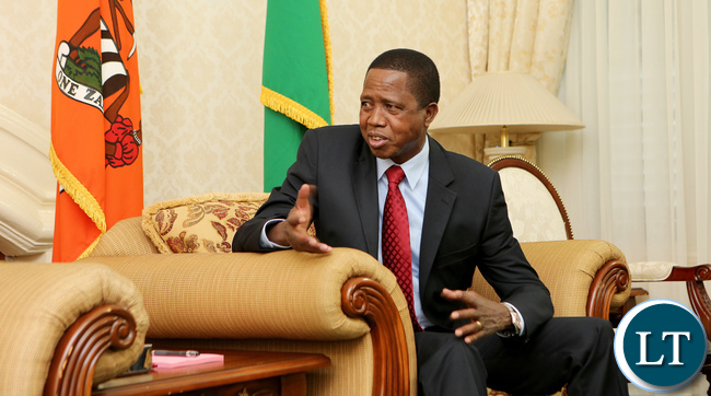 President Edgar Lungu in Office