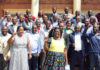 President Edgar Lungu with Lusaka Councillors at State House