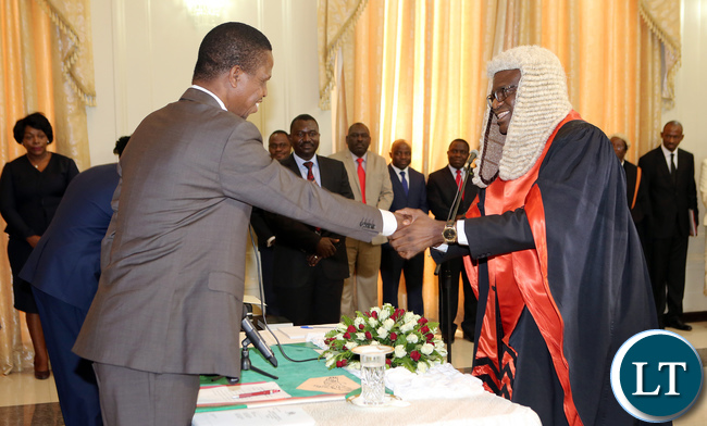president-edgar-lungu-sweaing-in-dr-patrick-matibine-as-speaker-of-national-assembly-at-statehouse-in-lusaka-7627