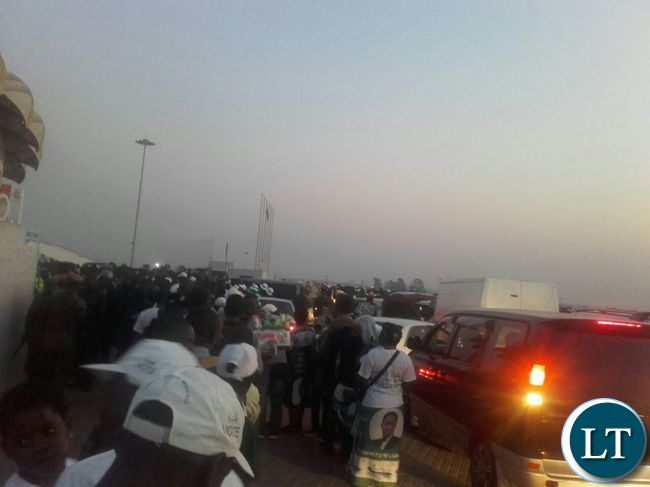 Traffic congestion near Heroes Stadium in the early hours of today