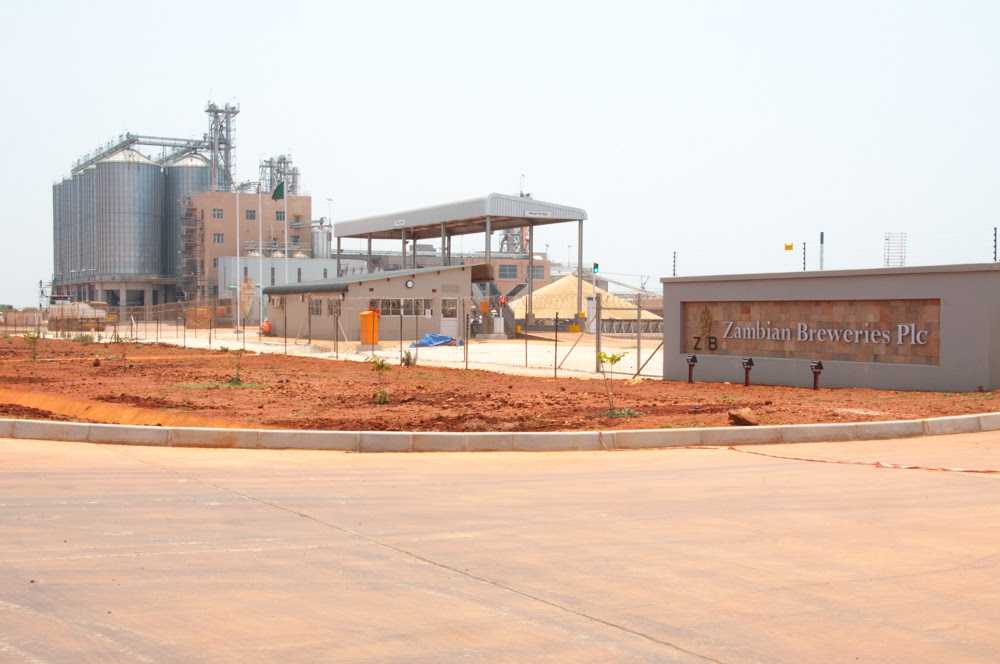 FILE: Committed to investment Zambian Breweries' US$32 million maltings plant nearing completion in the Lusaka-South Multi-Facility Economic Zone (MFEZ)