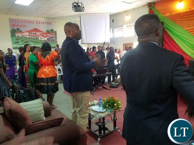Enjoying the church service at Bread of Life Church Ndola Main Branch