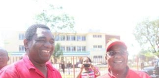 GBM and HH smiling outside Luanshya Magistrate Court