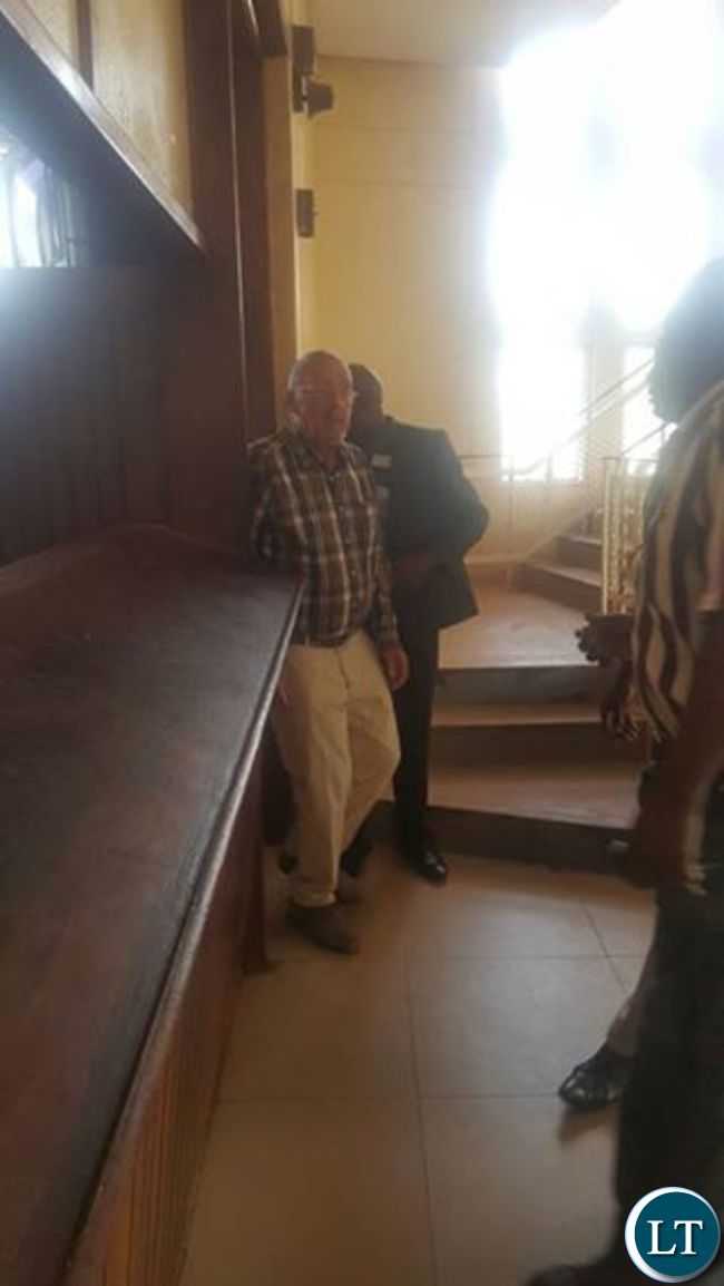 Guy Scott arrives to visit HH and GBM in police cells