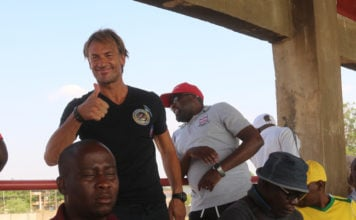 Former Chipolopolo trainer Herve Renard spotted at Sunset stadium during the Zanaco vs Zesco encounter