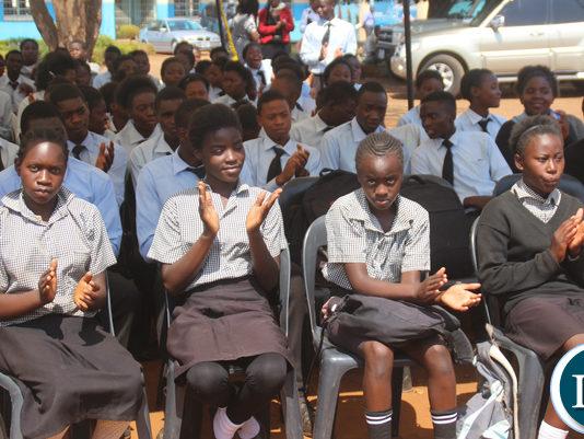 Some pupils of Lusaka Primary School Arthur Wina