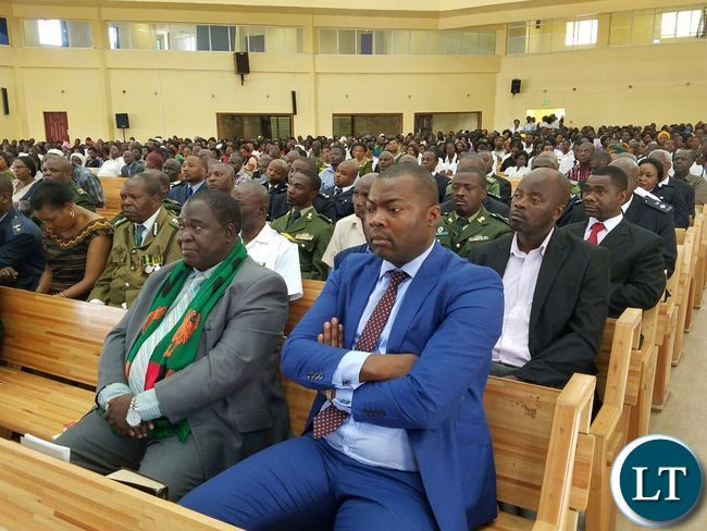 Listening to a sermon during the commemoration of the National Day of Prayer and Fasting at the New Apostolic Church in Kansenshi, Ndola