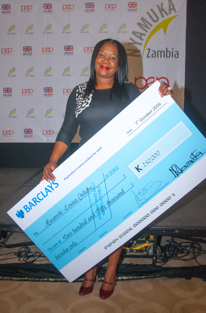 Nyamuka Zambia 2016 winner Musanshi Louisa Chiluba