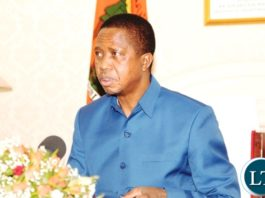 President Edgar Lungu addressing the nation on the eve of independence day.