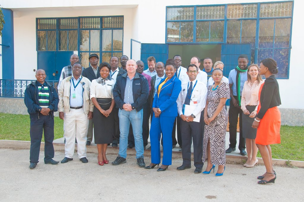 Proflight Zambia management and staff complete a workshop in their move towards world-class safety accreditation