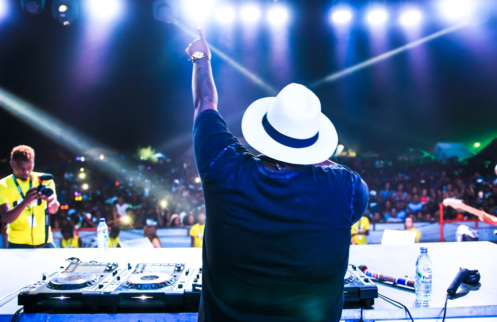 Turning the tables, live on stage at the R&G Oktoberfest sponsored by Castle Lite.