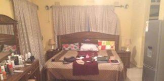 Savior Chishimba's ransancked bedroom