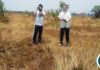 Preparations of land earmarked for the Provincial TV station construction are progressing well in central province and works are expected to start by December this year. In the picture the Chinese contractors measuring the over one hectares of land in kabwe's industrial area.