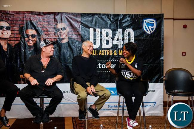 UB 40 during the press conference