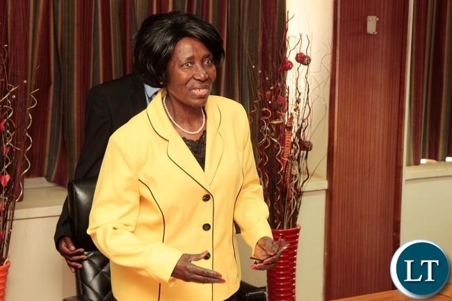 Vice President Inonge Wina.