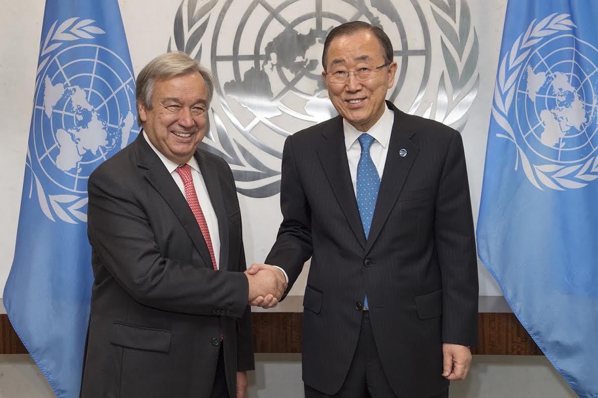 Secretary-General Ban Ki-moon meets with Mr. Antonio Guterres, Secretary-General-designate.