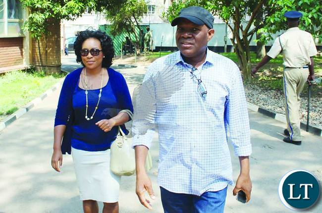 Fred M'membe and Mutinta Mazoka-Picture by Chanda Mwenya (Zambia Daily Mail)