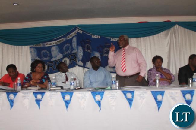 Ambassador Lewanika speaking during the workshop