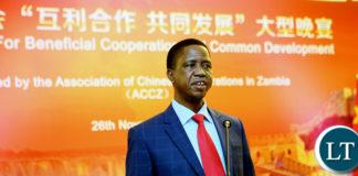 President Lungu address Chinese Busniess People