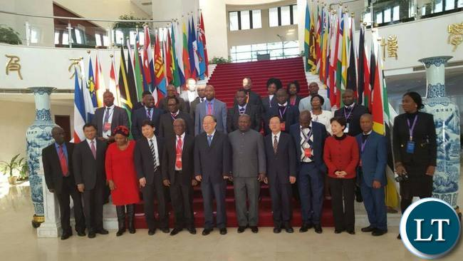 Zambian Provincial Ministers in China