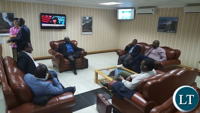 The Provincial Ministers relaxing in the VIP lounge at KKIA shortly before leaving for China